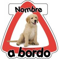Perro a bordo personalizado