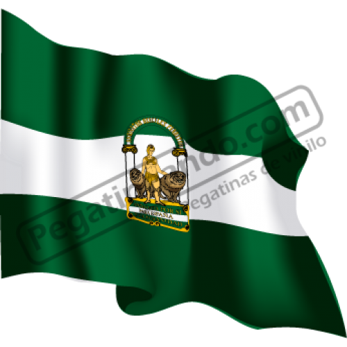 Bandera Andalucia Ondeando
