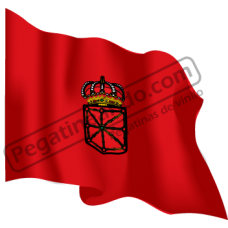 Bandera Navarra Ondeando