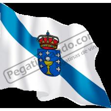 Bandera Galicia Ondeando