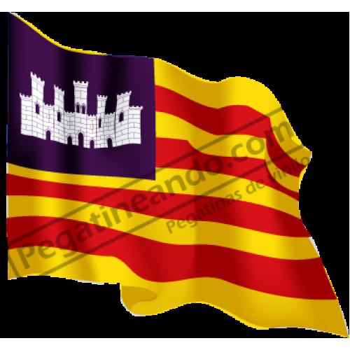 Bandera Baleares Ondeando