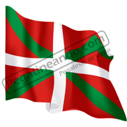Bandera Pais Vasco Ondeando