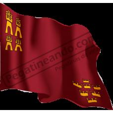 Bandera Region de Murcia Ondeando