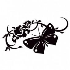 Flor con mariposa