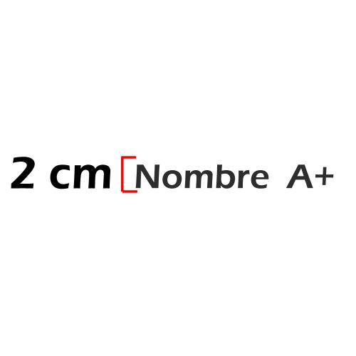 Nombre de 2cm