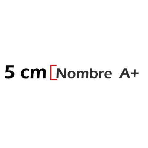 Nombre de 5cm