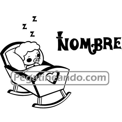 Vinilo infantil bebe durmiendo