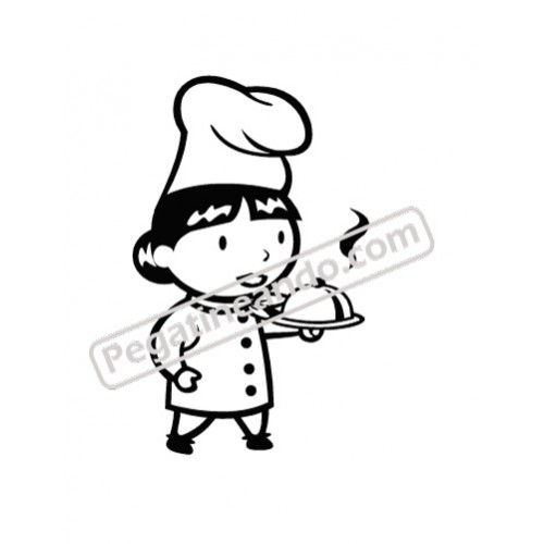Vinilo cocina la cocinera