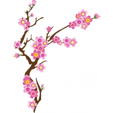 Rama con flor rosa