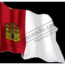 Bandera Castilla la Mancha Ondeando