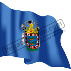 Bandera Melilla Ondeando