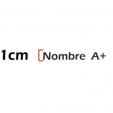 Nombre de 1cm