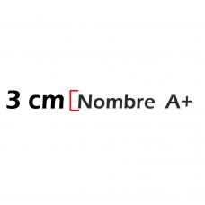 Nombre de 3cm