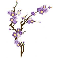 Rama con flor morada