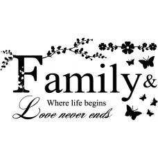 Vinilo decorativo familia